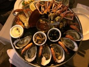 """Plateau de fruit de mer """"Le pleine mer"""" au restaurant l'Amiral de Rennes"""