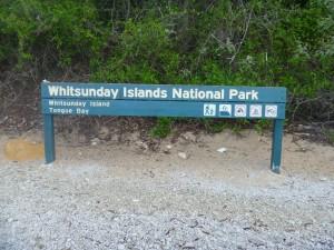 Arrivée sur une des îles Whitsundays