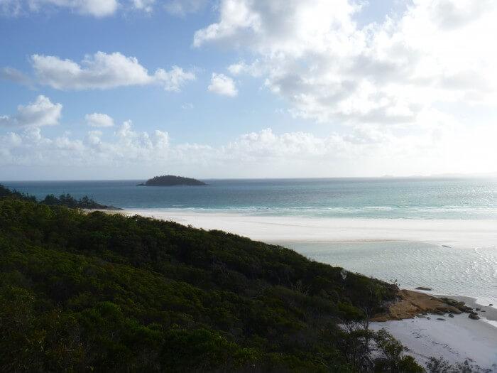 Vue du Lookout sur la plage