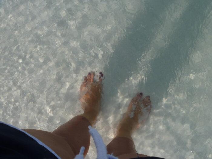 L'eau est transparente ici