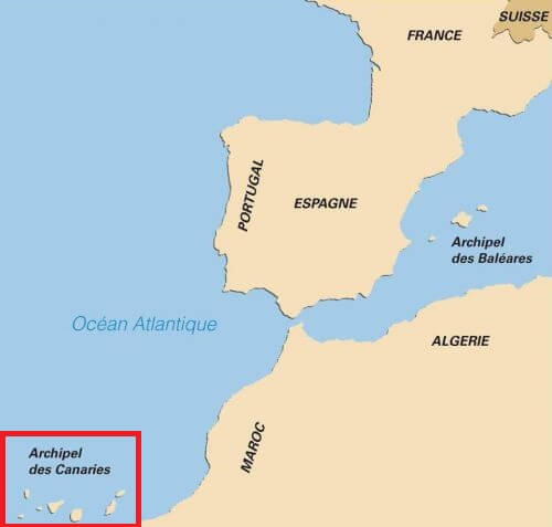 Situation des canaries