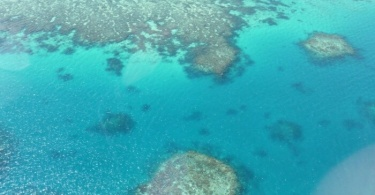 Grande barrière de corail vue du ciel - Australie