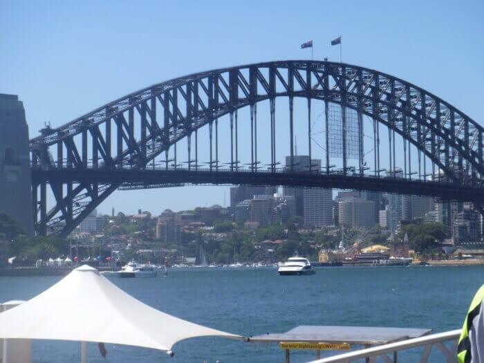 La vue depuis l'endroit ou je me suis posée - Nouvel an - Sydney - Australie