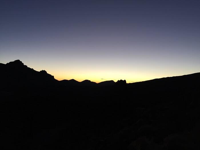 Coucher de soleil au Teide - Tenerife - Iles Canaries