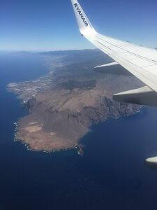 Sud de Tenerife vue du ciel